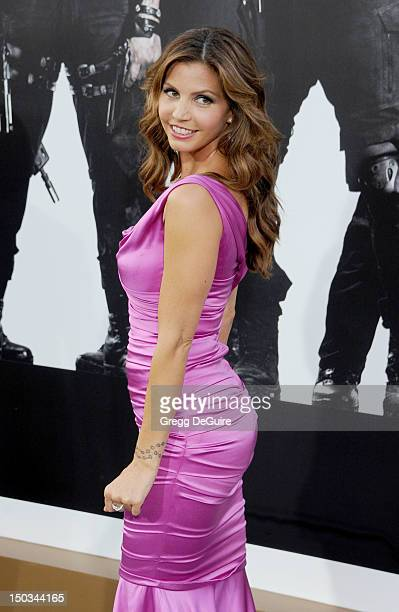 Actress Charisma Carpenter arrives at Los Angeles premiere of The Expendables 2 at Grauman's Chinese Theatre on August 15 2012 in Hollywood California
