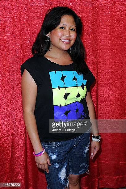 Actress Charity Cabico arrives for the Music Video Premiere For Barbara Kenton's 'This Is My Dream' Directed By Shanda Renee during Homeless Karaoke...