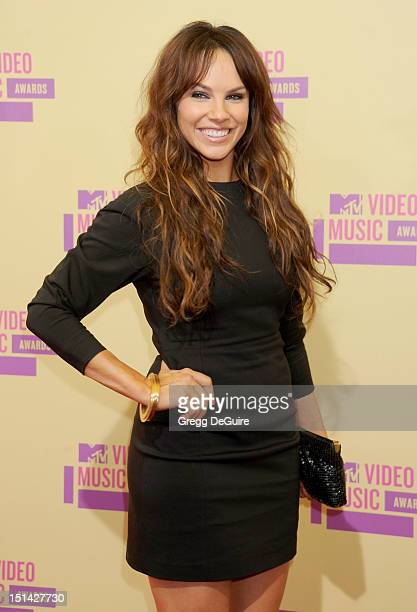 Actress Charity Shea arrives at 2012 MTV Video Awards at Staples Center on September 6 2012 in Los Angeles California
