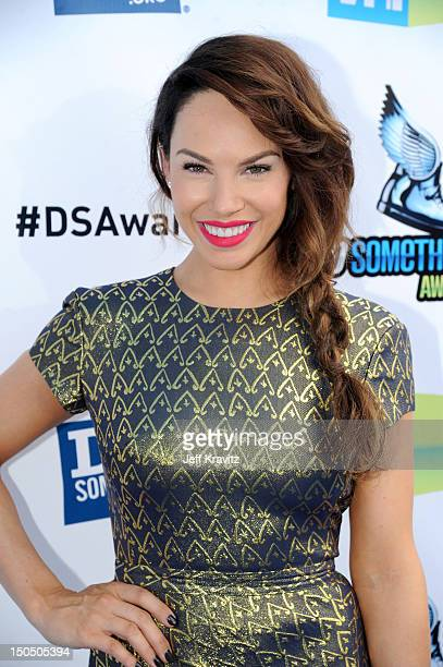 Actress Charity Shea arrives at DoSomethingorg and VH1's 2012 Do Something Awards at Barker Hangar on August 19 2012 in Santa Monica California