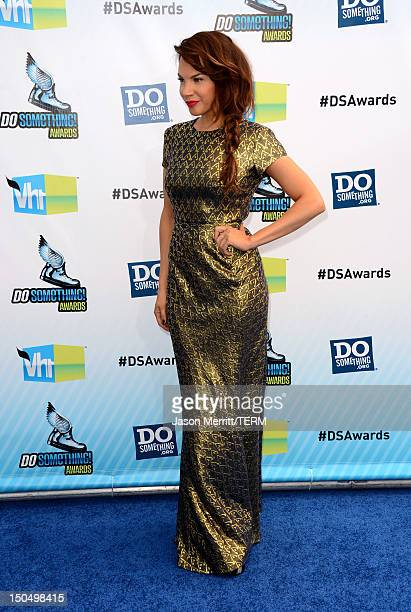 Actress Charity Shea arrives at the 2012 Do Something Awards at Barker Hangar on August 19 2012 in Santa Monica California