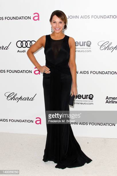 Actress Charity Shea arrives at the 20th Annual Elton John AIDS Foundation's Oscar Viewing Party held at West Hollywood Park on February 26 2012 in...