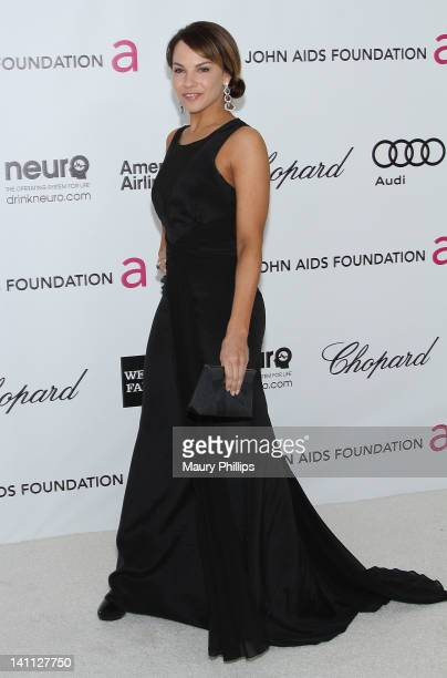 Actress Charity Shea arrives at the 20th Annual Elton John AIDS Foundation Academy Awards Viewing Party at Pacific Design Center on February 26 2012...