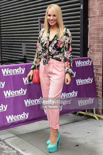 Actress Charity Shea leaves the Wendy Williams Show taping at the AMV Studios on May 22 2012 in New York City