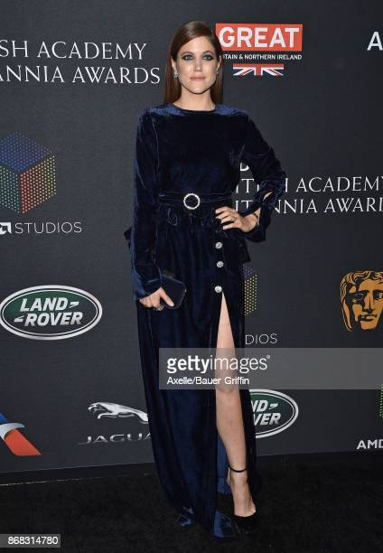 Actress Charity Wakefield arrives at the 2017 AMD British Academy Britannia Awards at The Beverly Hilton Hotel on October 27, 2017 in Beverly Hills,...