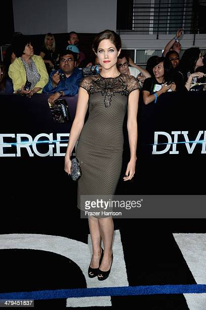 Actress Charity Wakefield arrives at the premiere of Summit Entertainment's Divergent at the Regency Bruin Theatre on March 18 2014 in Los Angeles...