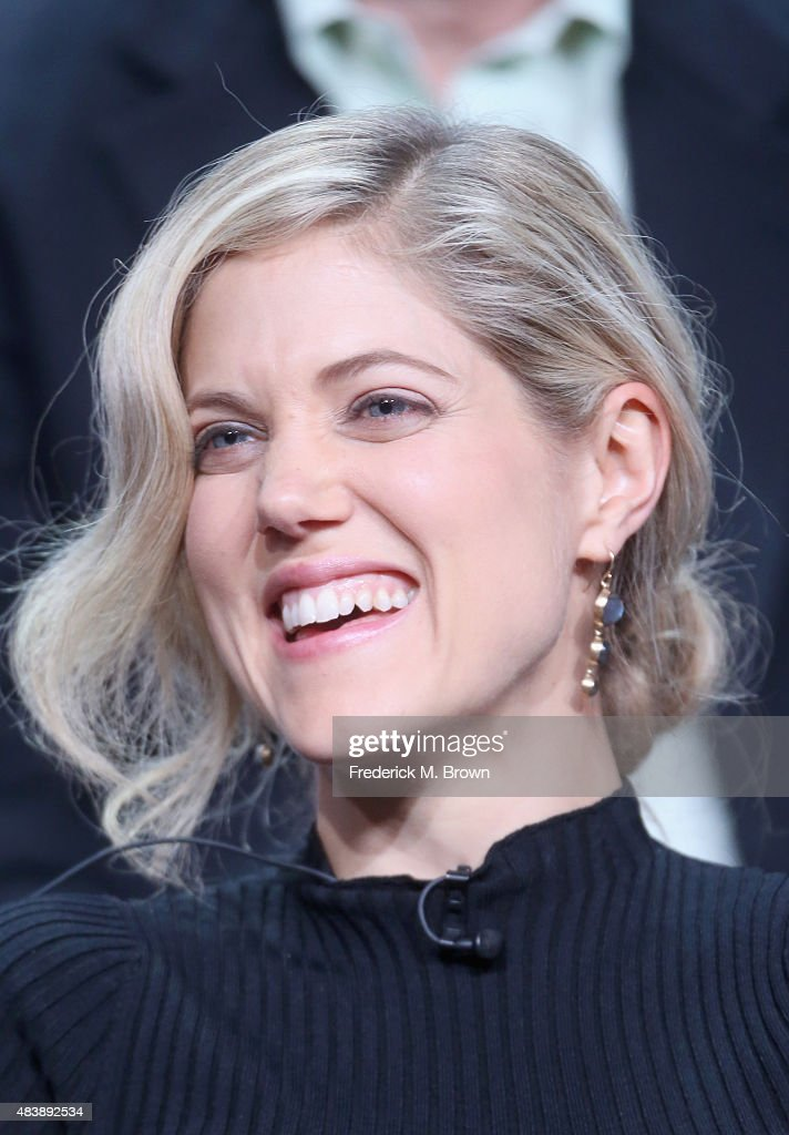Actress Charity Wakefield speaks onstage during NBC's 'The Player' panel discussion at the NBCUniversal portion of the 2015 Summer TCA Tour at The Beverly Hilton Hotel on August 13, 2015 in Beverly Hills, California.