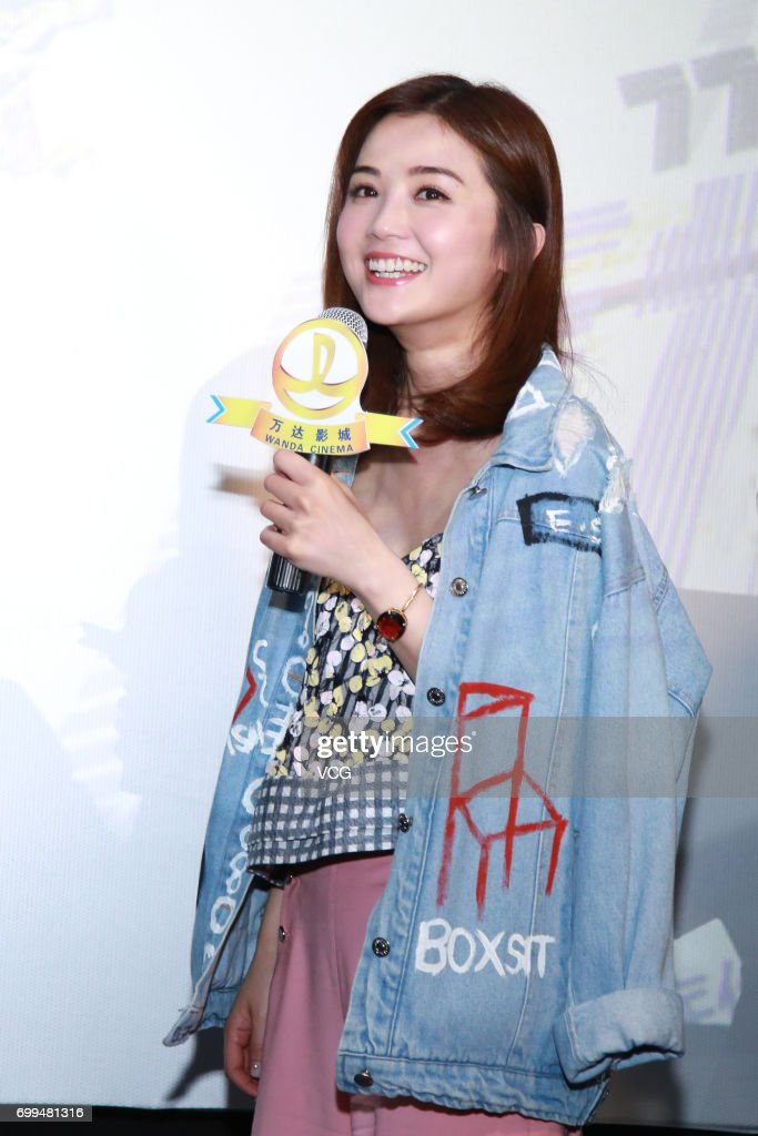 Actress Charlene Choi attends the road show for film '77 Heartbreaks' on June 21, 2017 in Guangzhou, Guangdong Province of China.