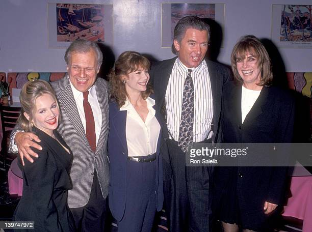 Actress Charlene Tilton Actor Ken Kercheval Actress Mary Crosby Actor Patrick Duffy and Actress Linda Gray attend The 11th Annual William S Paley...