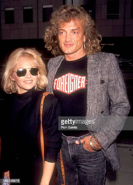 Actress Charlene Tilton and husband Domenick Allen attend the Screening of the First Season of Morton Hayes on July 22 1991 at the Academy Theatre in...