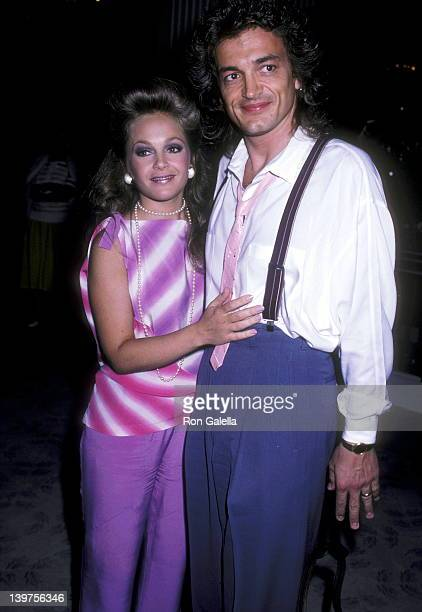 Actress Charlene Tilton and husband Domenick Allen attend the Second Annual Amanda Foundation Celebrity Fashion Show on September 10 1986 at Beverly...