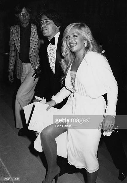 Actress Charlene Tilton and manager Jon Mercedes attending Creative Arts in Television Awards on September 8 1979 at the Pasadena Civic Auditorium in...