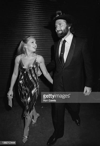 Actress Charlene Tilton and singer Johnny Lee attending 10th Annual American Music Awards on January 17 1983 at the Shrine Auditorium in Los Angeles...