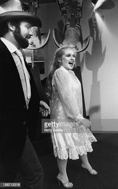 Actress Charlene Tilton and singer Johnny Lee attending Nineth Annual American Music Awards on January 25 1982 at the Shrine Auditorium in Los...
