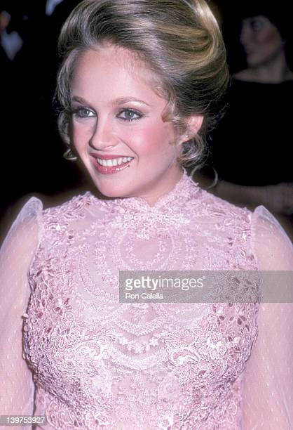 Actress Charlene Tilton attends the 39th Annual Golden Globe Awards on January 30 1982 at Beverly Hilton Hotel in Beverly Hills California