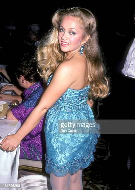 Actress Charlene Tilton attends the American Cancer Society Honors Blake Edwards on November 17 1983 at Beverly Hilton Hotel in Beverly Hills...