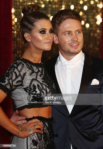 Actress Charley Webb and actor Matthew Wolfenden attend the British Soap Awards at Media City on May 18 2013 in Manchester England