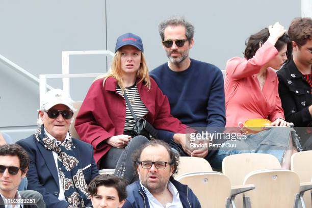 Actress Charlie Bruneau and JeanBaptiste Pouilloux attend the 2019 French Tennis Open Day Five at Roland Garros on May 30 2019 in Paris France