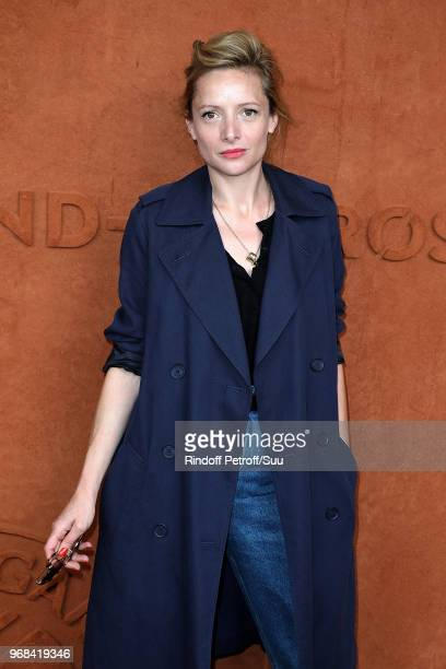 Actress Charlie Bruneau attends the 2018 French Open Day Eleven at Roland Garros on June 6 2018 in Paris France