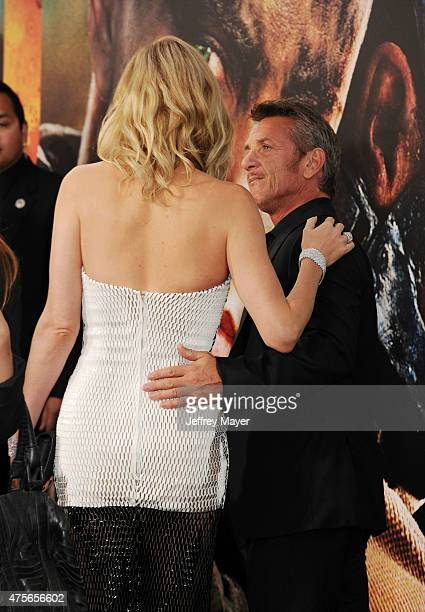 Actress Charlize Theron and Sean Penn arrive at the Mad Max Fury Road Los Angeles Premiere at TCL Chinese Theatre IMAX on May 7 2015 in Hollywood...