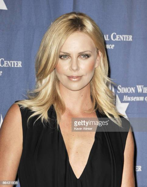 Actress Charlize Theron appears at the Simon Wiesenthal Center's Annual National Tribute Dinner at the Beverly Wilshire Hotel on May 5 2009 in...
