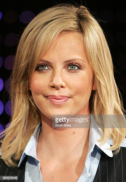Actress Charlize Theron appears onstage during MTV's Total Request Live at the MTV Times Square Studios on November 29 2005 in New York City