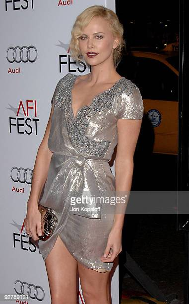 """Actress Charlize Theron arrives at AFI Fest 2009 - """"The Road"""" Los Angeles Premiere at Grauman's Chinese Theatre on November 4, 2009 in Hollywood,..."""