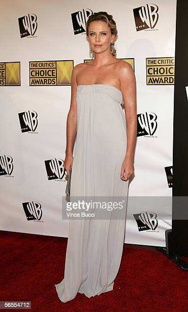 Actress Charlize Theron arrives at the 11th Annual Critics' Choice Awards held at the Santa Monica Civic Auditorium on January 9, 2006 in Santa...