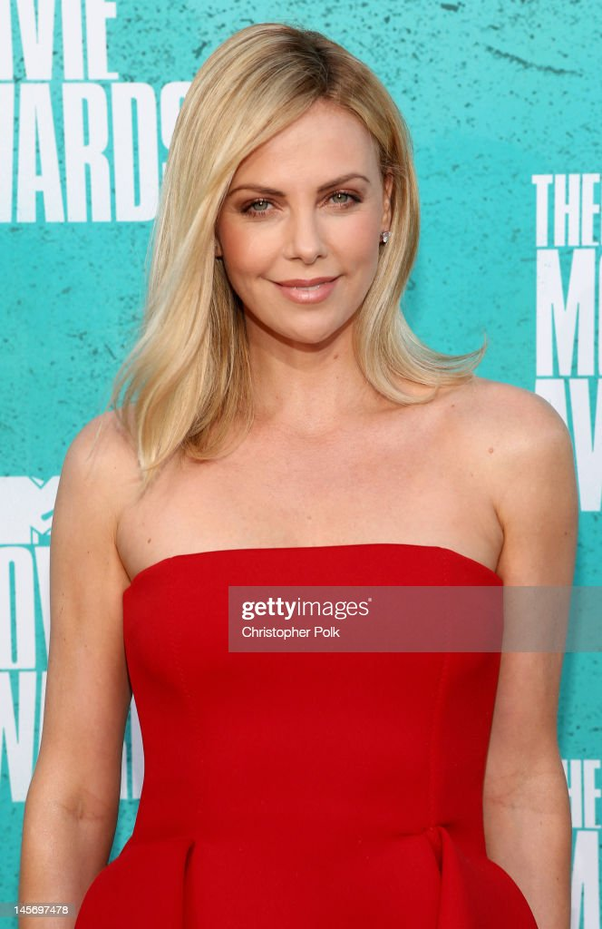 Actress Charlize Theron arrives at the 2012 MTV Movie Awards held at Gibson Amphitheatre on June 3, 2012 in Universal City, California.