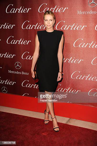 Actress Charlize Theron arrives at the 2012 Palm Springs International Film Festival Awards Gala at Palm Springs Convention Center on January 7 2012...