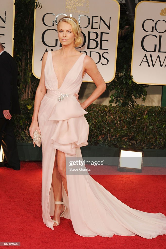 40873dea9b327 Actress Charlize Theron arrives at the 69th Annual Golden Globe ...