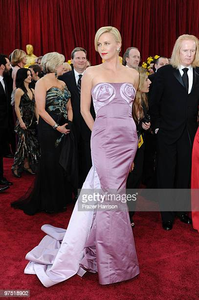 Actress Charlize Theron arrives at the 82nd Annual Academy Awards held at Kodak Theatre on March 7 2010 in Hollywood California