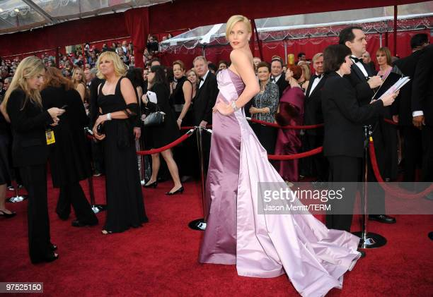 Actress Charlize Theron arrives at the 82nd Annual Academy Awards held at Kodak Theatre on March 7, 2010 in Hollywood, California.