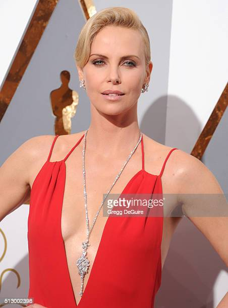 Actress Charlize Theron arrives at the 88th Annual Academy Awards at Hollywood Highland Center on February 28 2016 in Hollywood California