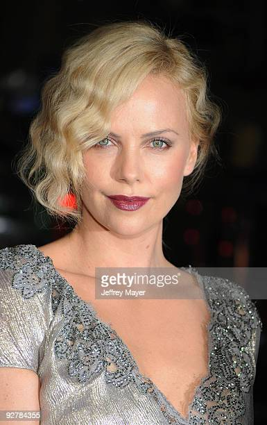 HOLLYWOOD CA November 04 Actress Charlize Theron arrives at the AFI Fest 2009 gala screening of The Road at Grauman's Chinese Theatre on November 4...
