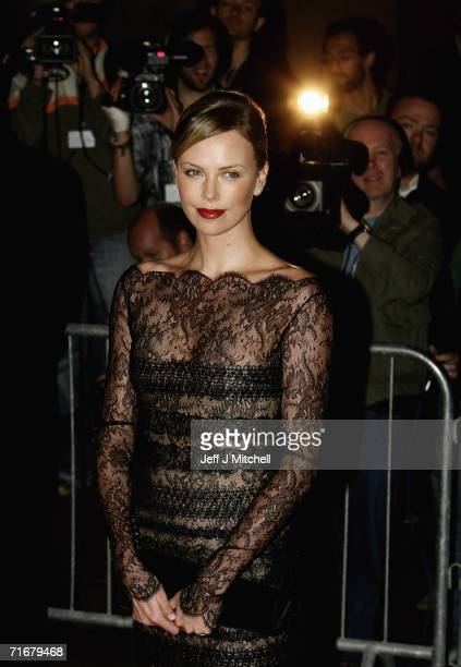 Actress Charlize Theron arrives at the Edinburgh International Film Festival 60th party at National Gallery August 19 2006 in Edinburgh United Kingdom