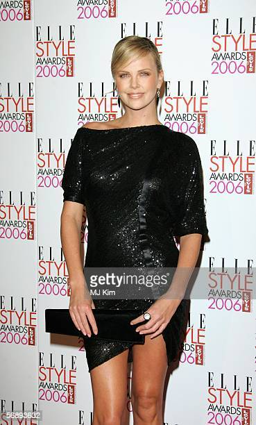 Actress Charlize Theron arrives at the ELLE Style Awards 2006 the fashion magazine's annual awards celebrating style at the Atlantis Gallery at the...
