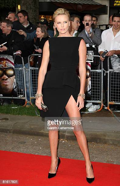 Actress Charlize Theron arrives at the Hancock premiere at Vue cinema in Leicester Square on June 18 2008 in London England