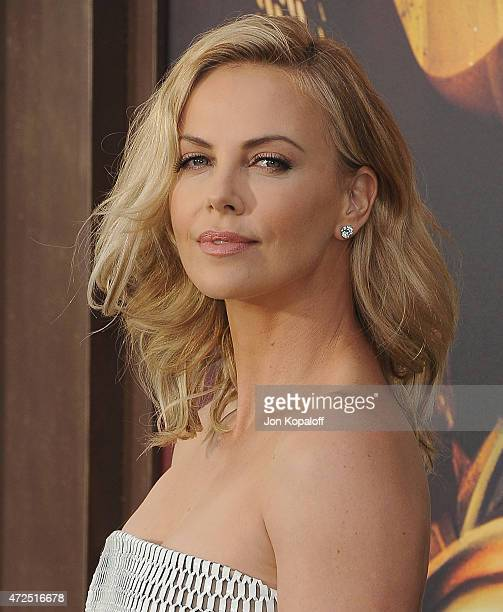 Actress Charlize Theron arrives at the Los Angeles Premiere Mad Max Fury Road at TCL Chinese Theatre IMAX on May 7 2015 in Hollywood California