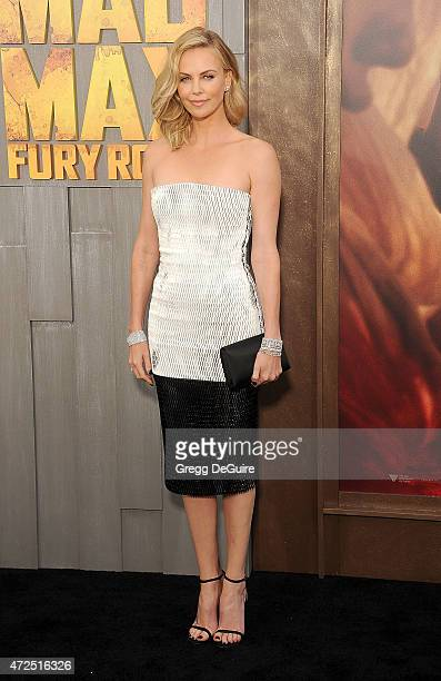 Actress Charlize Theron arrives at the Los Angeles premiere of Mad Max Fury Road at TCL Chinese Theatre IMAX on May 7 2015 in Hollywood California