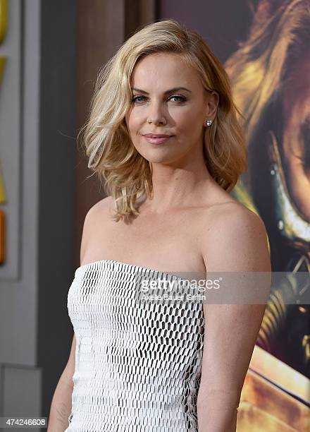 Actress Charlize Theron arrives at the Los Angeles premiere of 'Mad Max: Fury Road' at TCL Chinese Theatre IMAX on May 7, 2015 in Hollywood,...