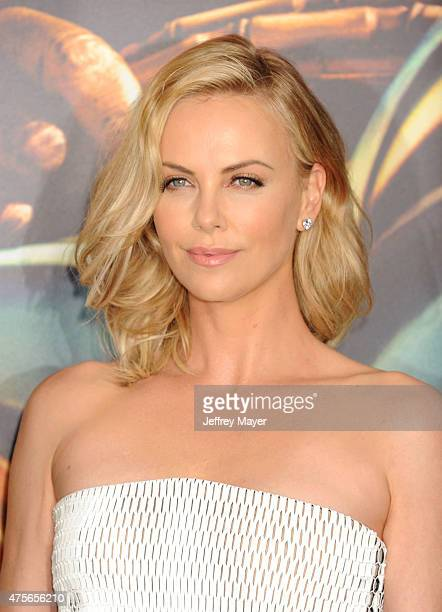 Actress Charlize Theron arrives at the 'Mad Max Fury Road' Los Angeles Premiere at TCL Chinese Theatre IMAX on May 7 2015 in Hollywood California