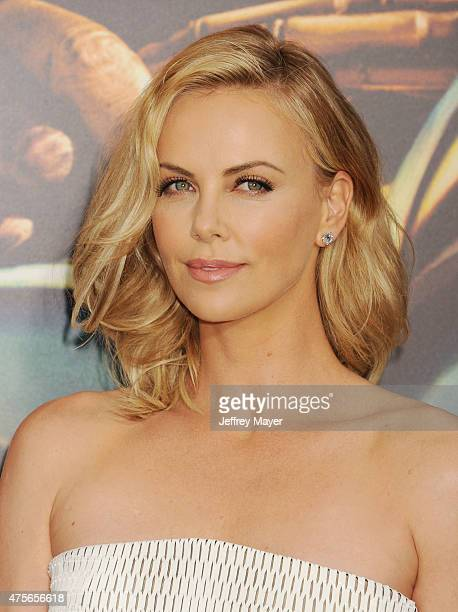 "Actress Charlize Theron arrives at the ""Mad Max: Fury Road"" Los Angeles Premiere at TCL Chinese Theatre IMAX on May 7, 2015 in Hollywood, California."