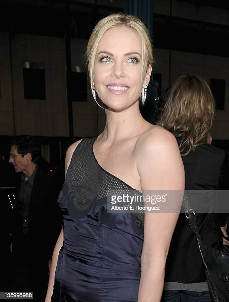 Actress Charlize Theron arrives at the premiere of Paramount Pictures and Mandate Pictures' 'Young Adult' held at the Academy of Motion Picture Arts...