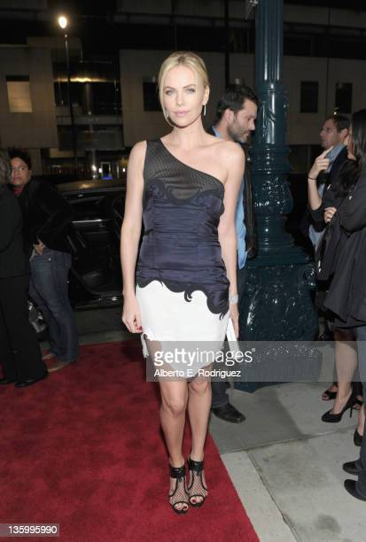Actress Charlize Theron arrives at the premiere of Paramount Pictures and Mandate Pictures' Young Adult held at the Academy of Motion Picture Arts...