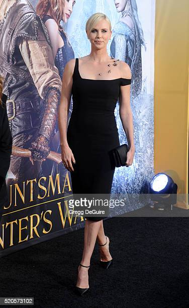Actress Charlize Theron arrives at the premiere of Universal Pictures' 'The Huntsman Winter's War' on April 11 2016 in Westwood California