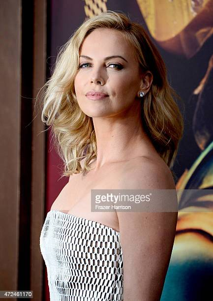"""Actress Charlize Theron arrives at the Premiere Of Warner Bros. Pictures' """"Mad Max: Fury Road"""" at TCL Chinese Theatre on May 7, 2015 in Hollywood,..."""