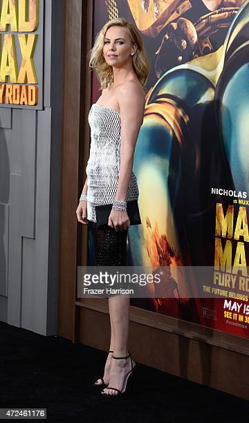 Actress Charlize Theron arrives at the Premiere Of Warner Bros Pictures' Mad Max Fury Road at TCL Chinese Theatre on May 7 2015 in Hollywood...