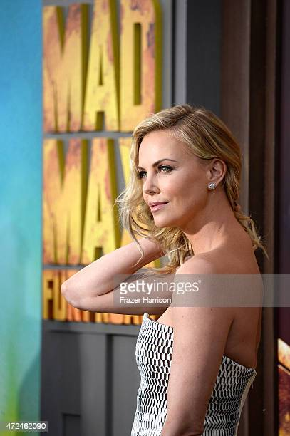 "Actress Charlize Theron arrives at the Premiere Of Warner Bros. Pictures' ""Mad Max: Fury Road"" at TCL Chinese Theatre on May 7, 2015 in Hollywood,..."