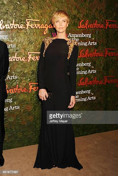 Actress Charlize Theron arrives at the Wallis Annenberg Center For The Performing Arts Inaugural Gala at Wallis Annenberg Center for the Performing...